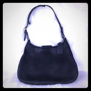 Vintage Coach Legacy City Black Leather Bag